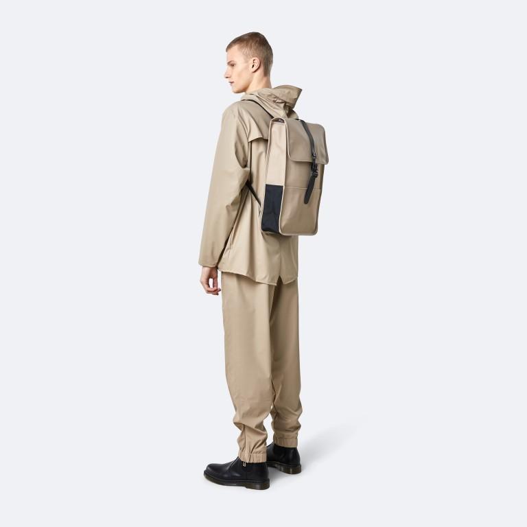 Rucksack Backpack Khaki, Farbe: taupe/khaki, Marke: Rains, EAN: 5711747460877, Abmessungen in cm: 28.5x47.0x10.0, Bild 3 von 9