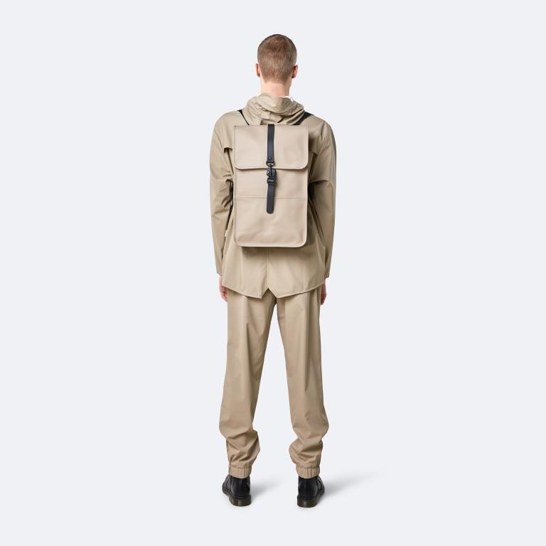 Rucksack Backpack Khaki, Farbe: taupe/khaki, Marke: Rains, EAN: 5711747460877, Abmessungen in cm: 28.5x47.0x10.0, Bild 4 von 9