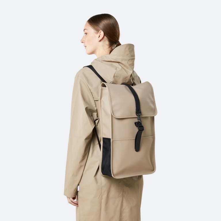 Rucksack Backpack Khaki, Farbe: taupe/khaki, Marke: Rains, EAN: 5711747460877, Abmessungen in cm: 28.5x47.0x10.0, Bild 5 von 9