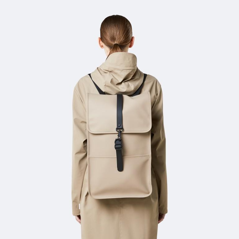 Rucksack Backpack Khaki, Farbe: taupe/khaki, Marke: Rains, EAN: 5711747460877, Abmessungen in cm: 28.5x47.0x10.0, Bild 6 von 9