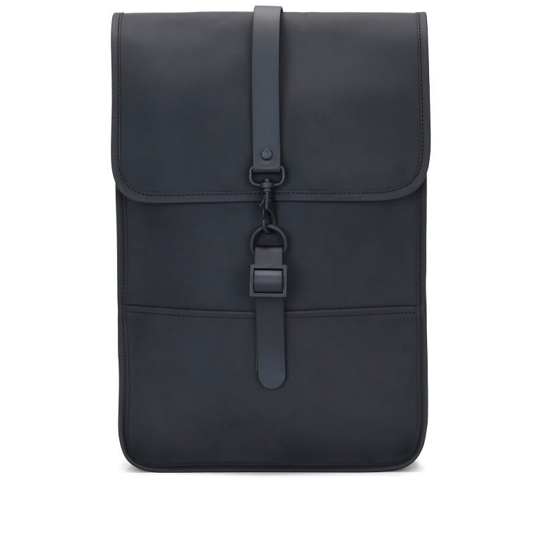 Rucksack Backpack Mini Black, Farbe: schwarz, Marke: Rains, EAN: 5711747403225, Abmessungen in cm: 27.0x39.0x8.0, Bild 1 von 7