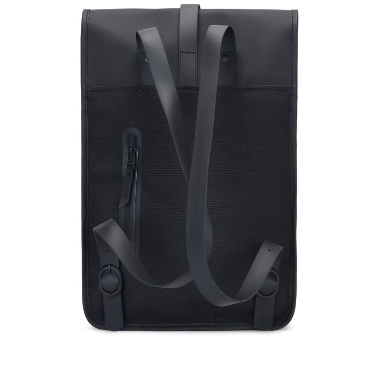 Rucksack Backpack Mini Black, Farbe: schwarz, Marke: Rains, EAN: 5711747403225, Abmessungen in cm: 27.0x39.0x8.0, Bild 2 von 7
