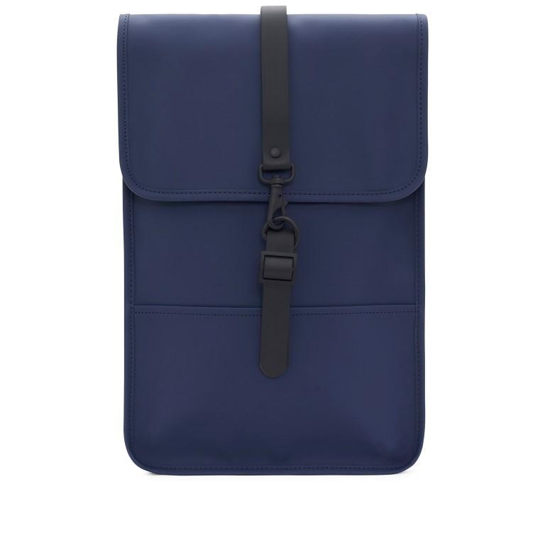 Rucksack Backpack Mini Blue, Farbe: blau/petrol, Marke: Rains, EAN: 5711747403232, Abmessungen in cm: 27.0x39.0x8.0, Bild 1 von 7