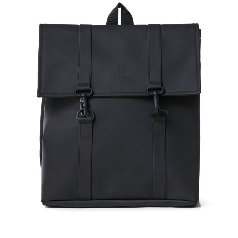 Rucksack MSN Mini Black, Farbe: schwarz, Marke: Rains, EAN: 5711747456016, Abmessungen in cm: 30.5x34.5x12.0, Bild 1 von 8