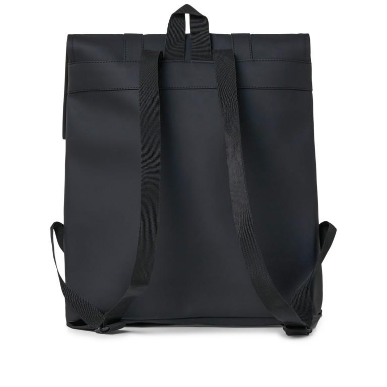 Rucksack MSN Mini Black, Farbe: schwarz, Marke: Rains, EAN: 5711747456016, Abmessungen in cm: 30.5x34.5x12.0, Bild 2 von 8