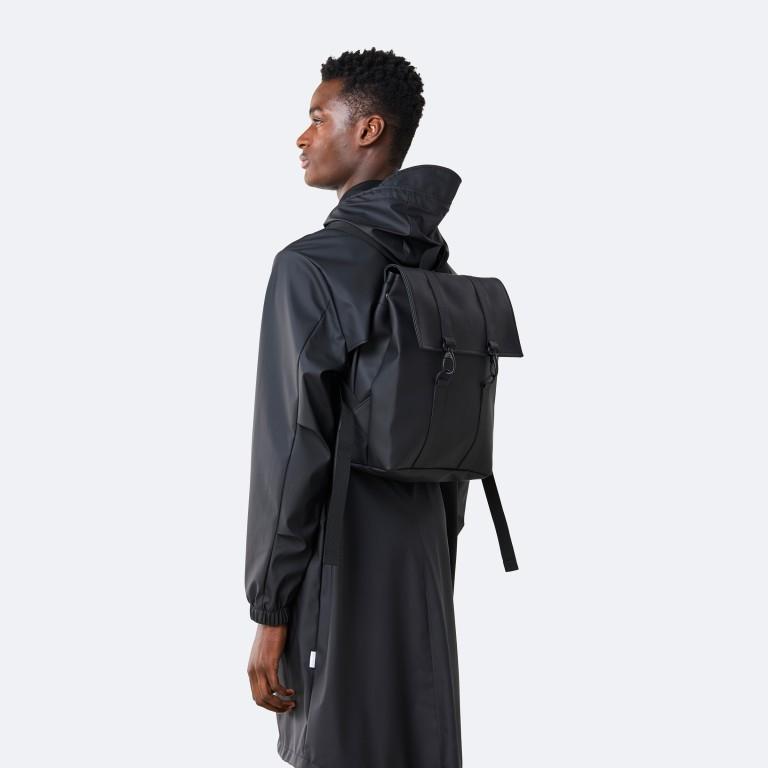 Rucksack MSN Mini Black, Farbe: schwarz, Marke: Rains, EAN: 5711747456016, Abmessungen in cm: 30.5x34.5x12.0, Bild 3 von 8