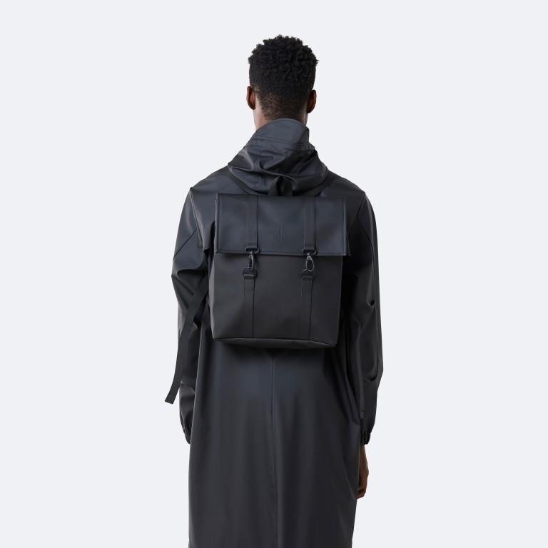 Rucksack MSN Mini Black, Farbe: schwarz, Marke: Rains, EAN: 5711747456016, Abmessungen in cm: 30.5x34.5x12.0, Bild 4 von 8