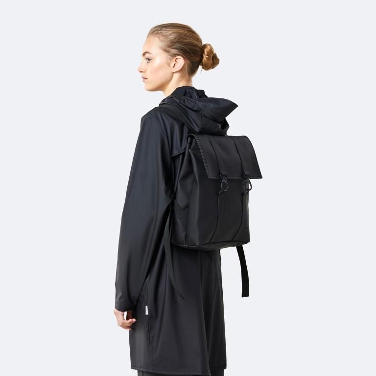 Rucksack MSN Mini Black, Farbe: schwarz, Marke: Rains, EAN: 5711747456016, Abmessungen in cm: 30.5x34.5x12.0, Bild 5 von 8