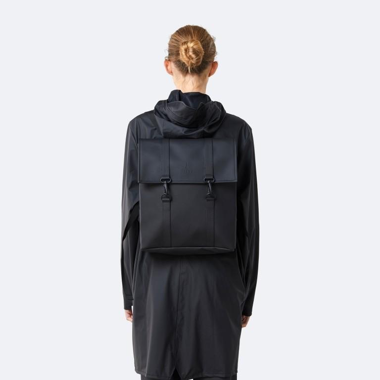 Rucksack MSN Mini Black, Farbe: schwarz, Marke: Rains, EAN: 5711747456016, Abmessungen in cm: 30.5x34.5x12.0, Bild 6 von 8