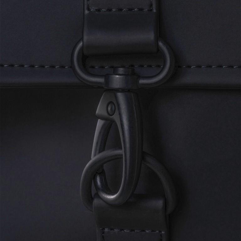 Rucksack MSN Mini Black, Farbe: schwarz, Marke: Rains, EAN: 5711747456016, Abmessungen in cm: 30.5x34.5x12.0, Bild 7 von 8