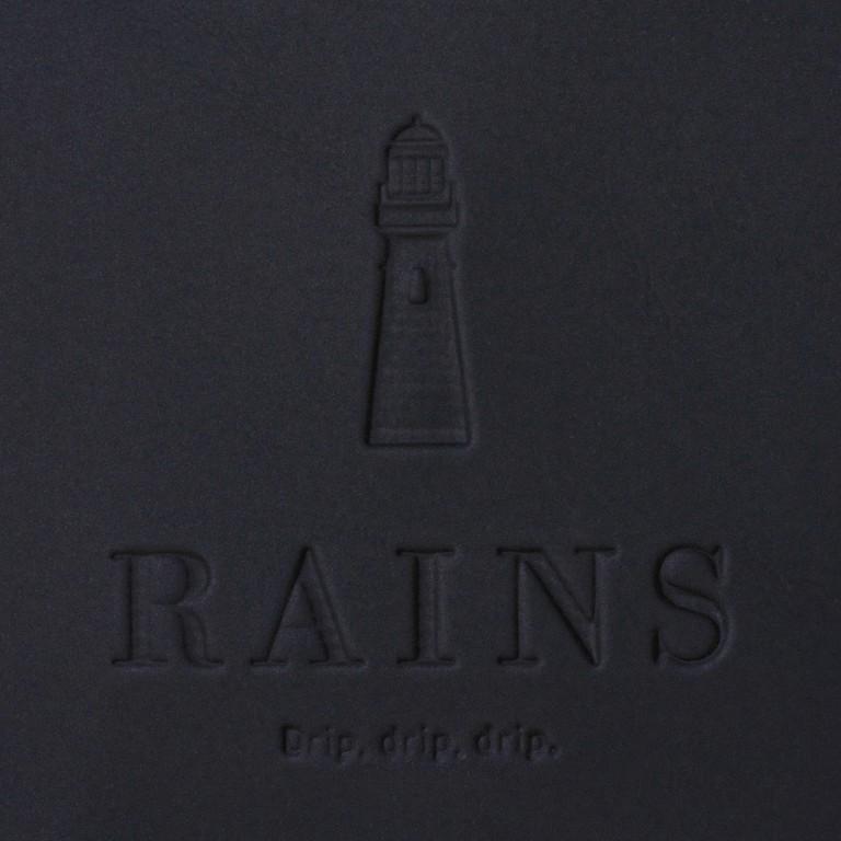 Rucksack MSN Mini Black, Farbe: schwarz, Marke: Rains, EAN: 5711747456016, Abmessungen in cm: 30.5x34.5x12.0, Bild 8 von 8