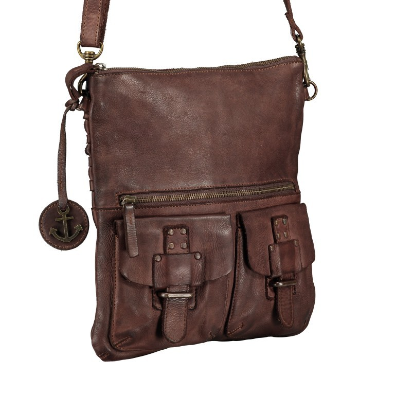 Umhängetasche Soft-Weaving Philipine B3.6304 Chocolate Brown, Farbe: braun, Marke: Harbour 2nd, EAN: 4046478028715, Bild 2 von 8