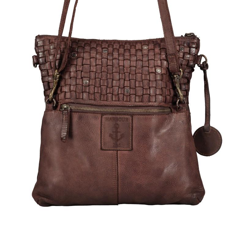 Umhängetasche Soft-Weaving Philipine B3.6304 Chocolate Brown, Farbe: braun, Marke: Harbour 2nd, EAN: 4046478028715, Bild 3 von 8