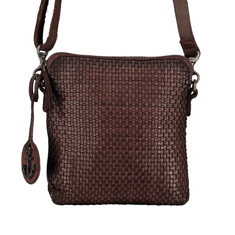 Umhängetasche Soft-Weaving Thelma B3.9786 Chocolate Brown, Farbe: braun, Marke: Harbour 2nd, EAN: 4046478047884, Abmessungen in cm: 19.5x20.0x3.0, Bild 1 von 6