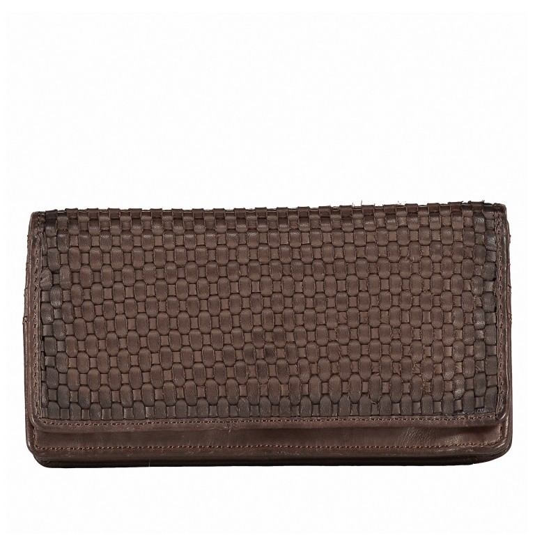 Geldbörse Soft-Weaving Shelly B3.2224 Chocolate Brown, Farbe: braun, Marke: Harbour 2nd, EAN: 4046478048102, Abmessungen in cm: 18.5x10.0x3.0, Bild 1 von 4