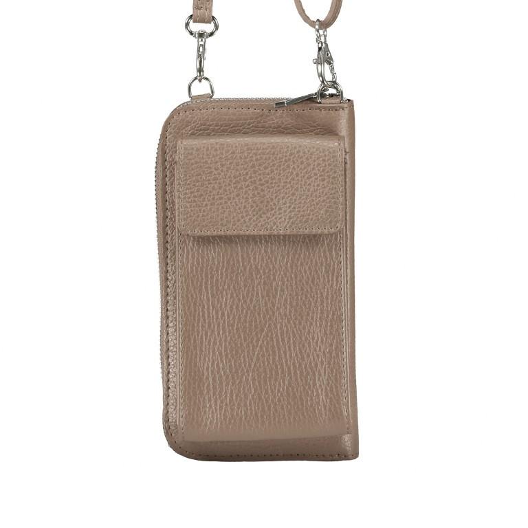 Handytasche Dollaro mit Schulterriemen Taupe, Farbe: taupe/khaki, Marke: Hausfelder, EAN: 4065646002074, Abmessungen in cm: 11.0x20.0x4.5, Bild 1 von 6