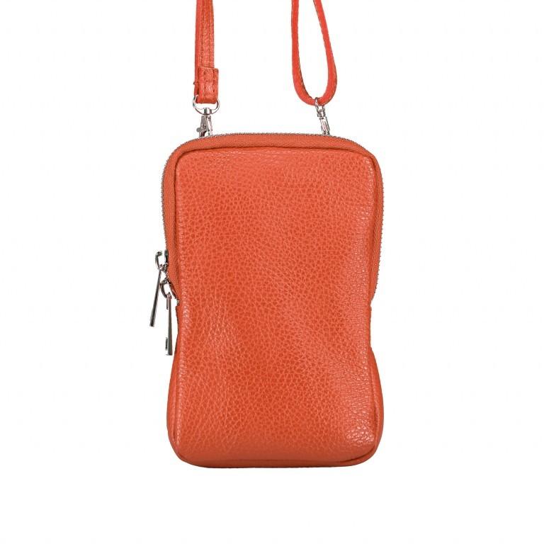 Handytasche Dollaro mit Schulterriemen Dark Orange, Farbe: orange, Marke: Hausfelder, EAN: 4065646002357, Abmessungen in cm: 11.0x17.5x2.0, Bild 1 von 6