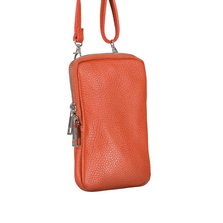 Handytasche Dollaro mit Schulterriemen Dark Orange, Farbe: orange, Marke: Hausfelder, EAN: 4065646002357, Abmessungen in cm: 11.0x17.5x2.0, Bild 2 von 6