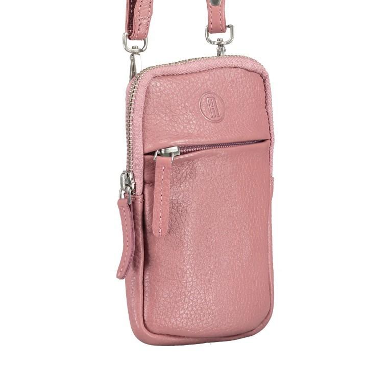 Handytasche Nappa mit Schulterriemen Rose, Farbe: rosa/pink, Marke: Hausfelder, EAN: 4251672787157, Abmessungen in cm: 10.0x17.0x1.5, Bild 2 von 7