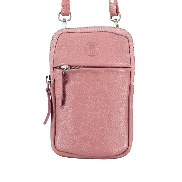 Handytasche Nappa mit Schulterriemen Rose, Farbe: rosa/pink, Marke: Hausfelder, EAN: 4251672787157, Abmessungen in cm: 10.0x17.0x1.5, Bild 1 von 7