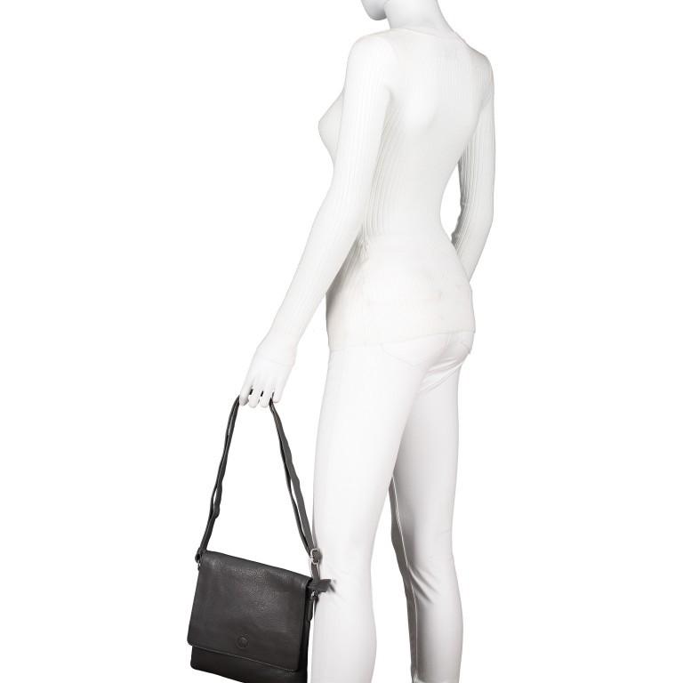 Umhängetasche Milano Karen Schwarz, Farbe: schwarz, Marke: Hausfelder, EAN: 4251672788017, Abmessungen in cm: 22.5x22.0x4.0, Bild 4 von 8