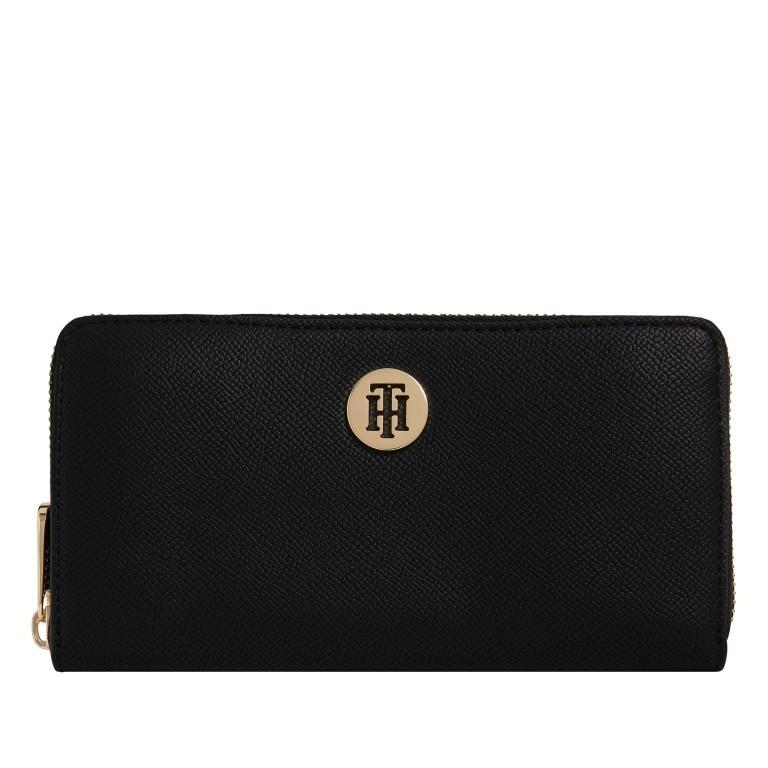 Geldbörse Honey Large Zip Around Black, Farbe: schwarz, Marke: Tommy Hilfiger, EAN: 8720113702364, Abmessungen in cm: 19.0x10.0x1.5, Bild 1 von 1