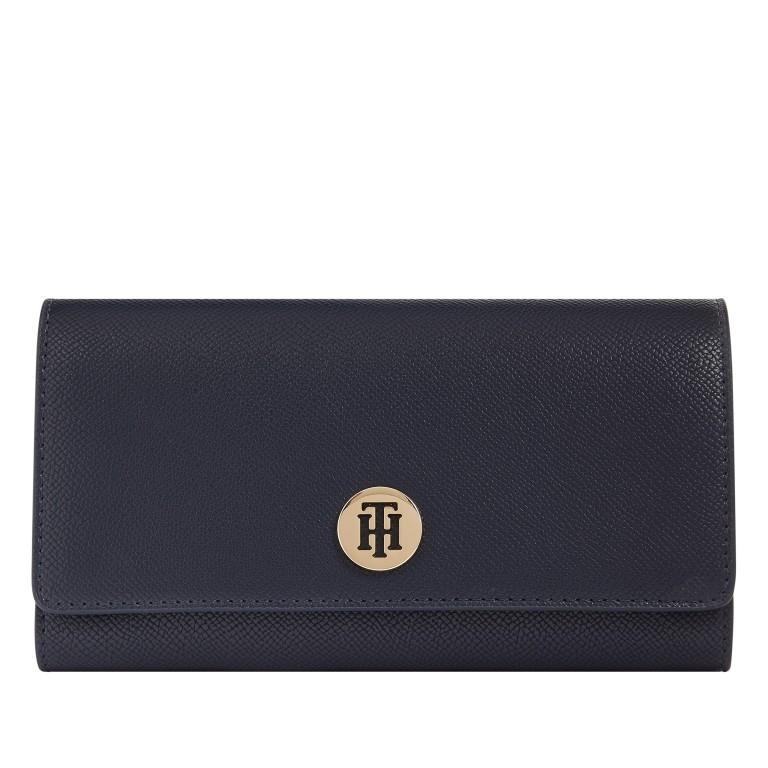 Geldbörse Honey Large Wallet with Flap Desert Sky, Farbe: blau/petrol, Marke: Tommy Hilfiger, EAN: 8720113700148, Abmessungen in cm: 19.0x10.0x3.5, Bild 1 von 2