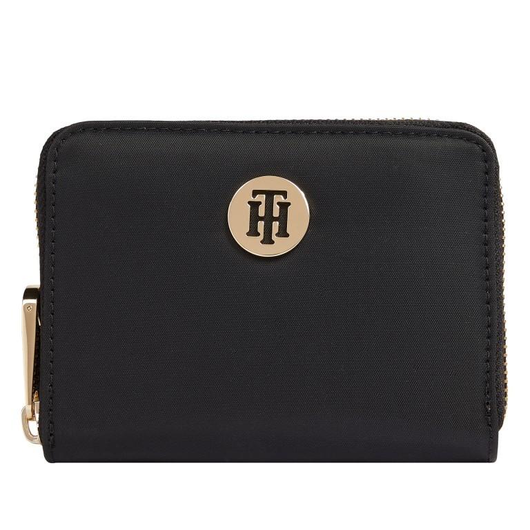 Geldbörse Poppy Medium Wallet Black, Farbe: schwarz, Marke: Tommy Hilfiger, EAN: 8720113701756, Abmessungen in cm: 12.5x10.0x2.5, Bild 1 von 3