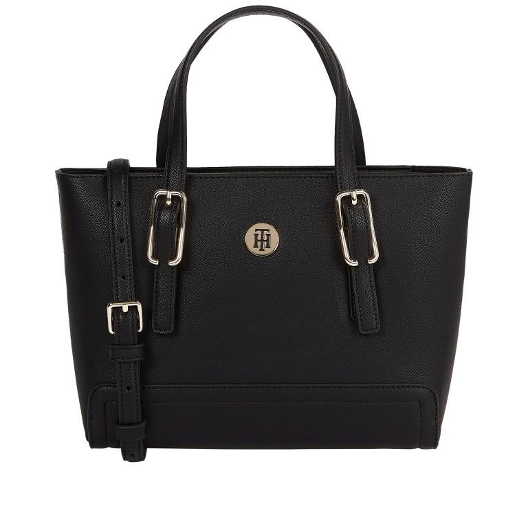 Handtasche Honey Small Tote Black, Farbe: schwarz, Marke: Tommy Hilfiger, EAN: 8720113703705, Abmessungen in cm: 27.0x19.0x10.0, Bild 1 von 2