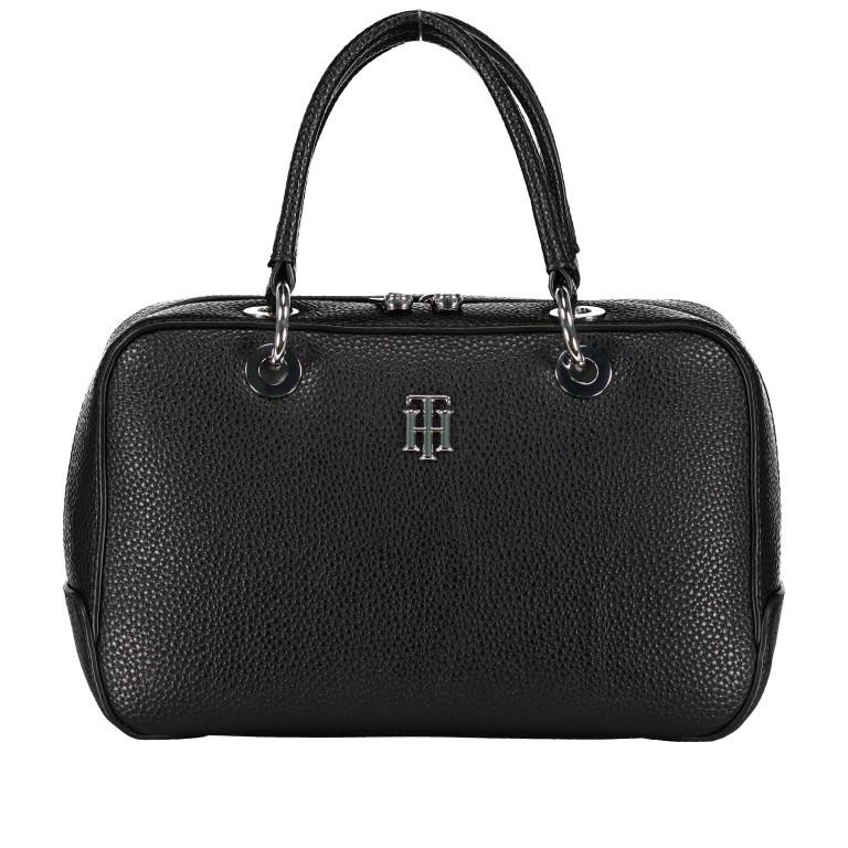 Handtasche Essence Medium Duffle Black, Farbe: schwarz, Marke: Tommy Hilfiger, EAN: 8720113701275, Abmessungen in cm: 26.0x16.0x10.0, Bild 1 von 3