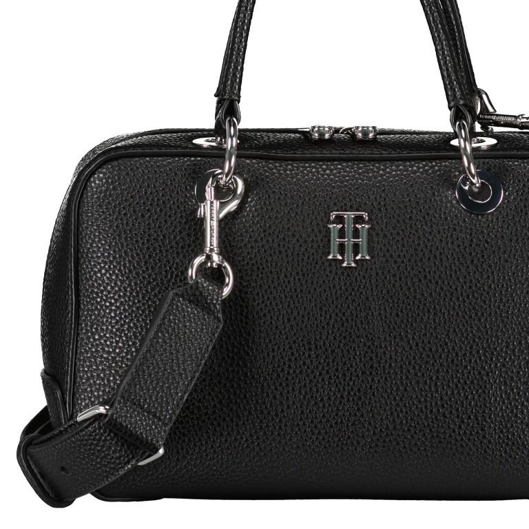 Handtasche Essence Medium Duffle Black, Farbe: schwarz, Marke: Tommy Hilfiger, EAN: 8720113701275, Abmessungen in cm: 26.0x16.0x10.0, Bild 3 von 3