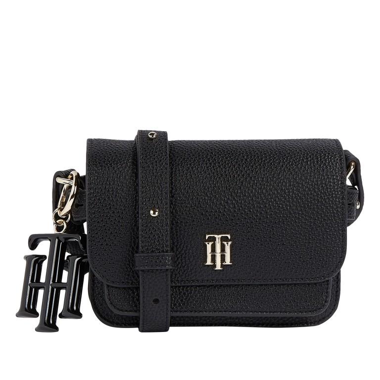 Umhängetasche Soft Mini Crossover Bag Black, Farbe: schwarz, Marke: Tommy Hilfiger, EAN: 8720113707529, Abmessungen in cm: 17.5x13.0x6.5, Bild 1 von 2
