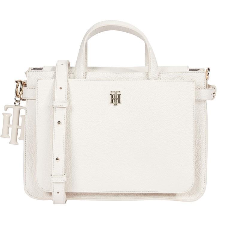 Handtasche Soft Satchel White Dove, Farbe: weiß, Marke: Tommy Hilfiger, EAN: 8720113707826, Abmessungen in cm: 32.0x23.0x13.0, Bild 1 von 2