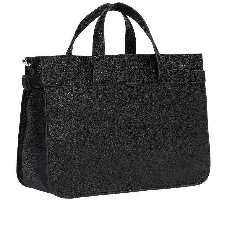 Handtasche Soft Satchel Black, Farbe: schwarz, Marke: Tommy Hilfiger, EAN: 8720113712370, Abmessungen in cm: 32.0x23.0x13.0, Bild 2 von 2