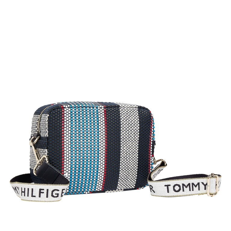 Umhängetasche Iconic Camera Bag Stripes Corporate Stripes, Farbe: blau/petrol, Marke: Tommy Hilfiger, EAN: 8720113711816, Abmessungen in cm: 21.0x15.0x7.0, Bild 2 von 2