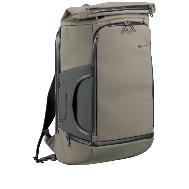 Salzen Triplete Tavelbag Backpack ZEN-SBM-001.70060 Olive Grey , Farbe: grün/oliv, Marke: Salzen, EAN: 4057081087693, Abmessungen in cm: 31.0x500x20.0, Bild 2 von 11