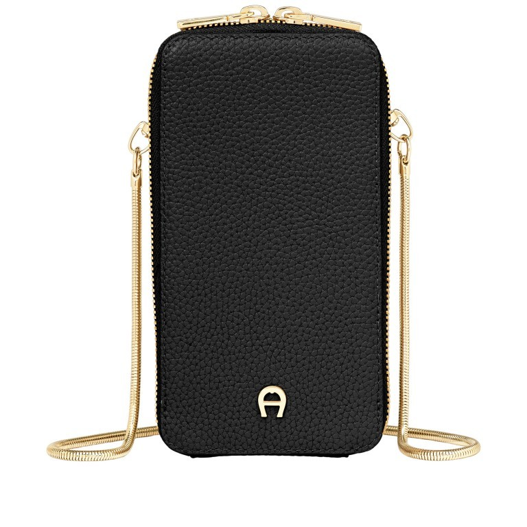 Handytasche Mobile Bag 163-139 Black, Farbe: schwarz, Marke: AIGNER, EAN: 4055539362651, Abmessungen in cm: 9.5x17.0x2.0, Bild 1 von 6