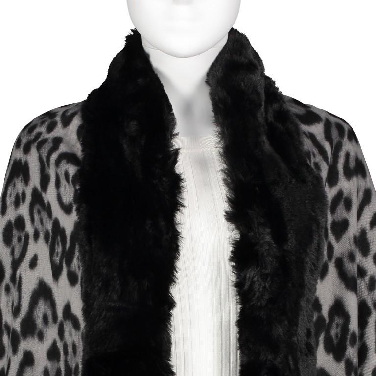 Cape Leo mit Kunstfellbesatz Schwarz, Farbe: schwarz, Marke: Hausfelder, EAN: 4065646004153, Bild 2 von 2
