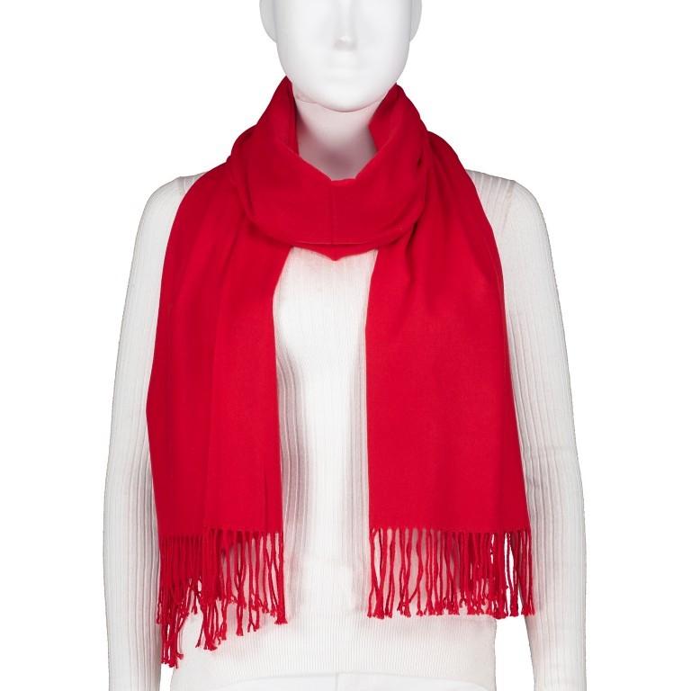Schal mit Kaschmir Rot, Farbe: rot/weinrot, Marke: Hausfelder, EAN: 4065646005280, Bild 1 von 2