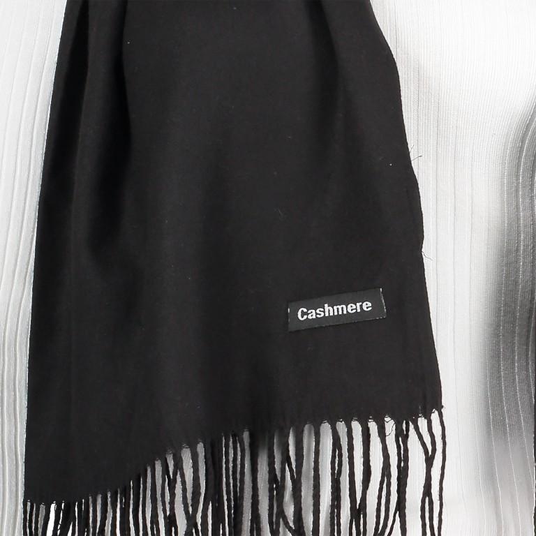 Schal mit Kaschmir Schwarz, Farbe: schwarz, Marke: Hausfelder, EAN: 4065646005266, Bild 2 von 2