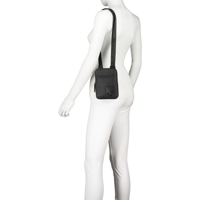 Umhängetasche Blackhorse Shoulderbag XSVZ Black, Farbe: schwarz, Marke: Strellson, EAN: 4053533851478, Abmessungen in cm: 13.0x18.0x1.5, Bild 4 von 8