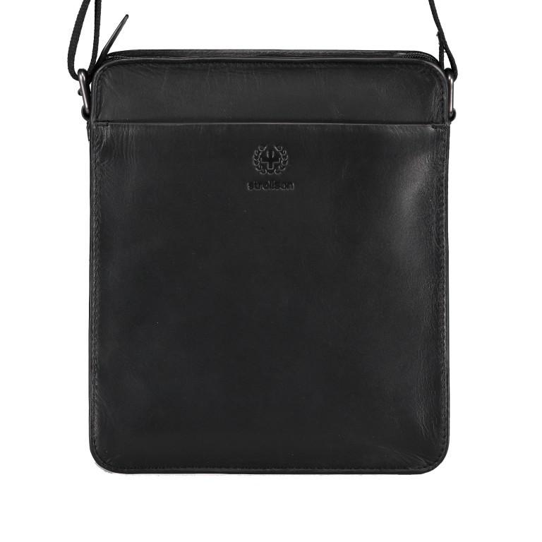 Umhängetasche Bakerloo Shoulderbag XSVZ Black, Farbe: schwarz, Marke: Strellson, EAN: 4053533851553, Abmessungen in cm: 22.0x25.0x4.5, Bild 1 von 8