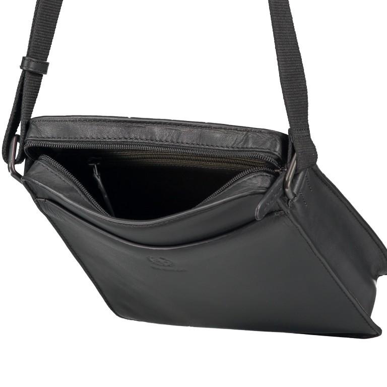 Umhängetasche Bakerloo Shoulderbag XSVZ Black, Farbe: schwarz, Marke: Strellson, EAN: 4053533851553, Abmessungen in cm: 22.0x25.0x4.5, Bild 6 von 8