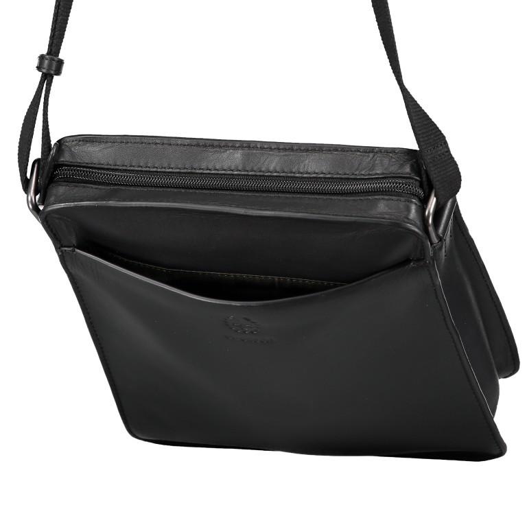 Umhängetasche Bakerloo Shoulderbag XSVZ Black, Farbe: schwarz, Marke: Strellson, EAN: 4053533851553, Abmessungen in cm: 22.0x25.0x4.5, Bild 7 von 8