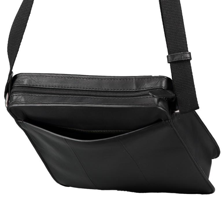 Umhängetasche Bakerloo Shoulderbag XSVZ Black, Farbe: schwarz, Marke: Strellson, EAN: 4053533851553, Abmessungen in cm: 22.0x25.0x4.5, Bild 8 von 8