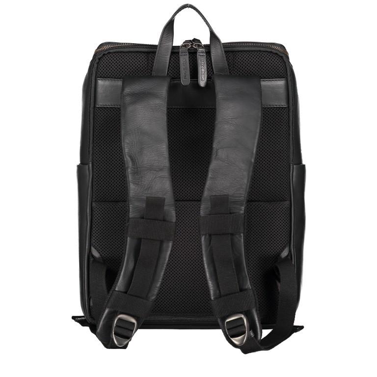 Rucksack Bakerloo Backpack MVZ Black, Farbe: schwarz, Marke: Strellson, EAN: 4053533851508, Abmessungen in cm: 29.0x40.0x15.0, Bild 3 von 7