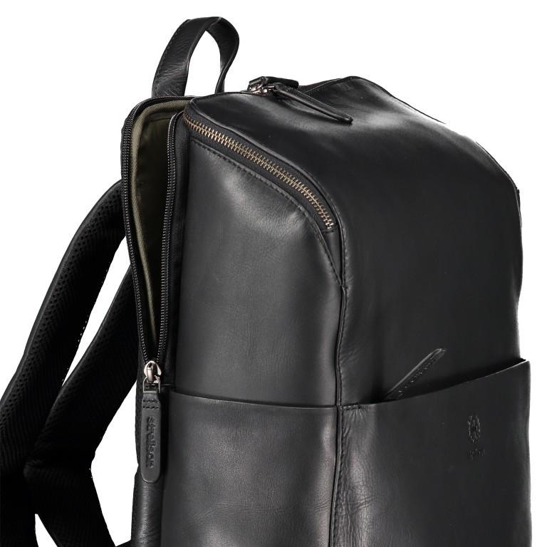 Rucksack Bakerloo Backpack MVZ Black, Farbe: schwarz, Marke: Strellson, EAN: 4053533851508, Abmessungen in cm: 29.0x40.0x15.0, Bild 6 von 7