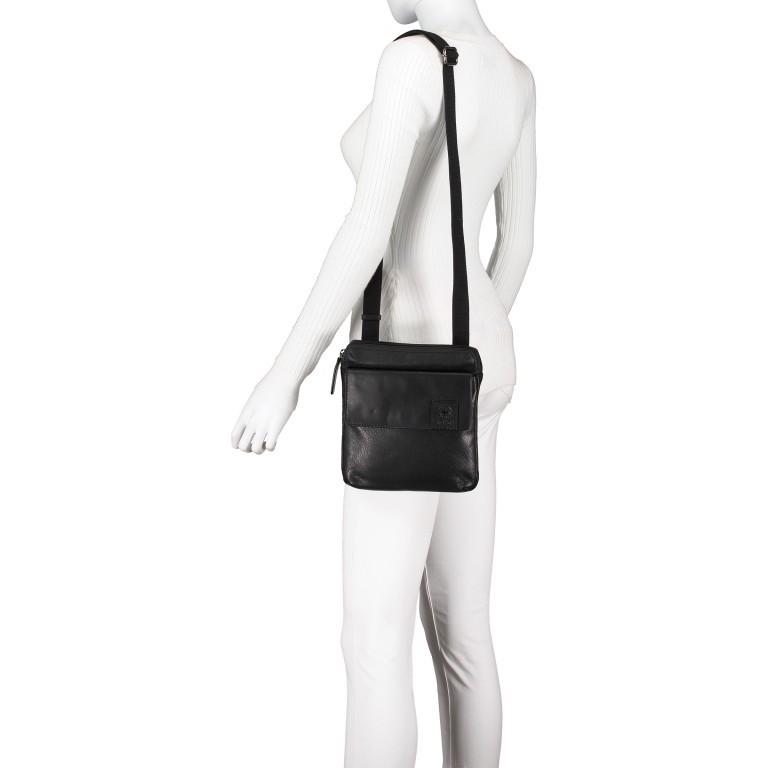 Umhängetasche Hyde Park Shoulderbag XSVZ2 Black, Farbe: schwarz, Marke: Strellson, EAN: 4053533861019, Abmessungen in cm: 22.0x22.0x4.0, Bild 4 von 7