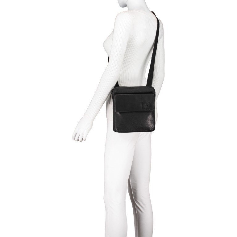 Umhängetasche Hyde Park Shoulderbag XSVZ2 Black, Farbe: schwarz, Marke: Strellson, EAN: 4053533861019, Abmessungen in cm: 22.0x22.0x4.0, Bild 5 von 7