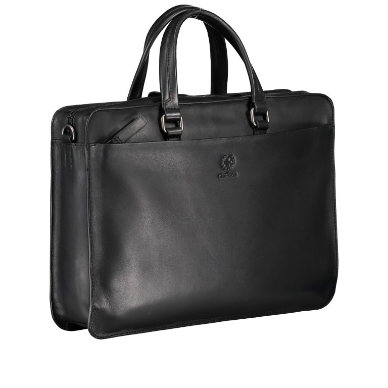 Aktentasche Bakerloo Briefbag SHZ Black, Farbe: schwarz, Marke: Strellson, EAN: 4053533851515, Abmessungen in cm: 39.0x28.0x8.0, Bild 2 von 10